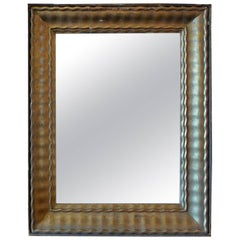 French 19th Century Rectangular Carved Mirror with Original Mirror Glass