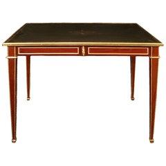 French 19th Century, Rectangular Louis XVI St. Mahogany and Ormolu Table/Desk