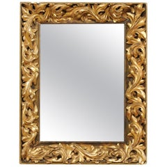 French 19th Century Rectangular-Shaped, Rococo Carved and Giltwood Mirror