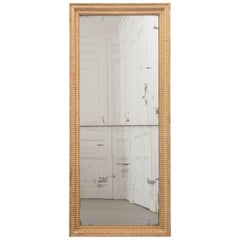 French 19th Century Rectilinear Giltwood Mirror