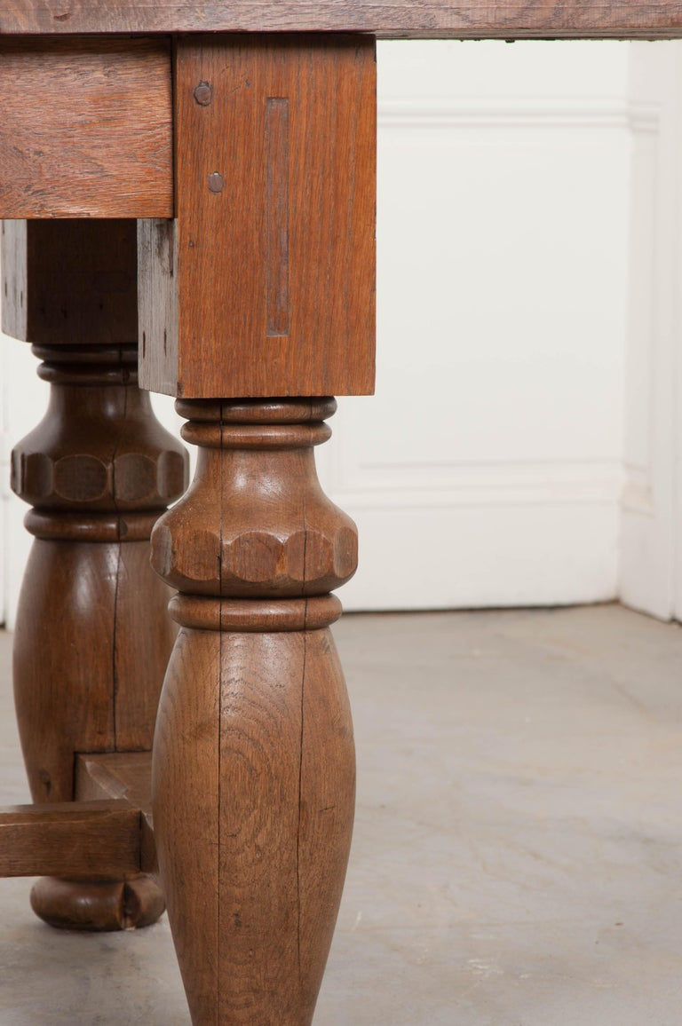 French 19th Century Refectory-Style Oak Farmhouse Table For Sale 5