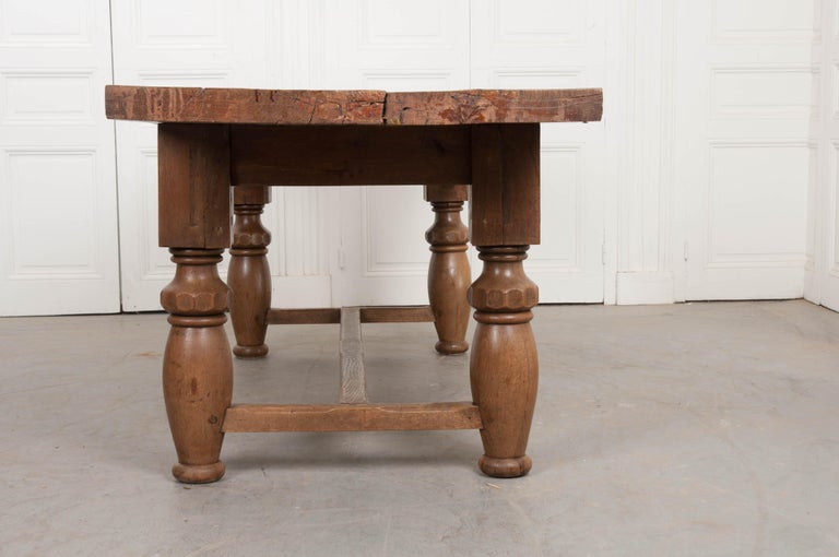 French 19th Century Refectory-Style Oak Farmhouse Table For Sale 6