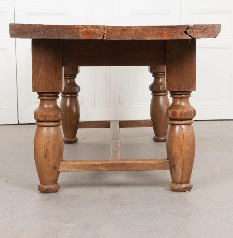 French 19th Century Refectory-Style Oak Farmhouse Table For Sale 7