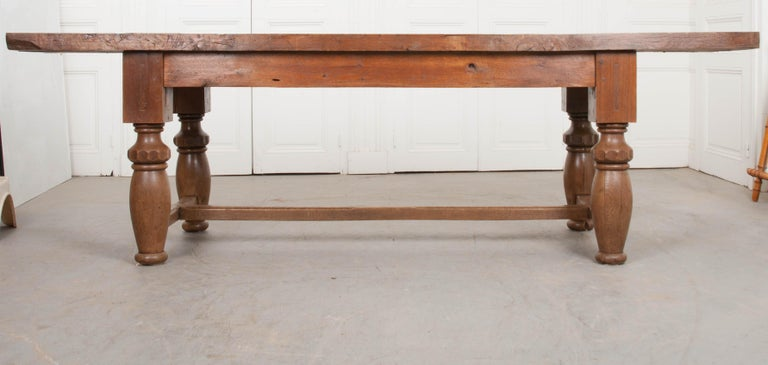 French 19th Century Refectory-Style Oak Farmhouse Table For Sale 8