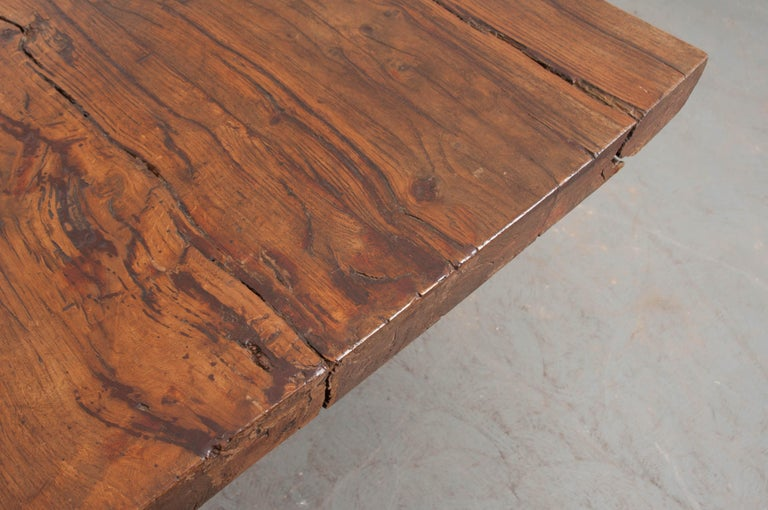 French 19th Century Refectory-Style Oak Farmhouse Table For Sale 1