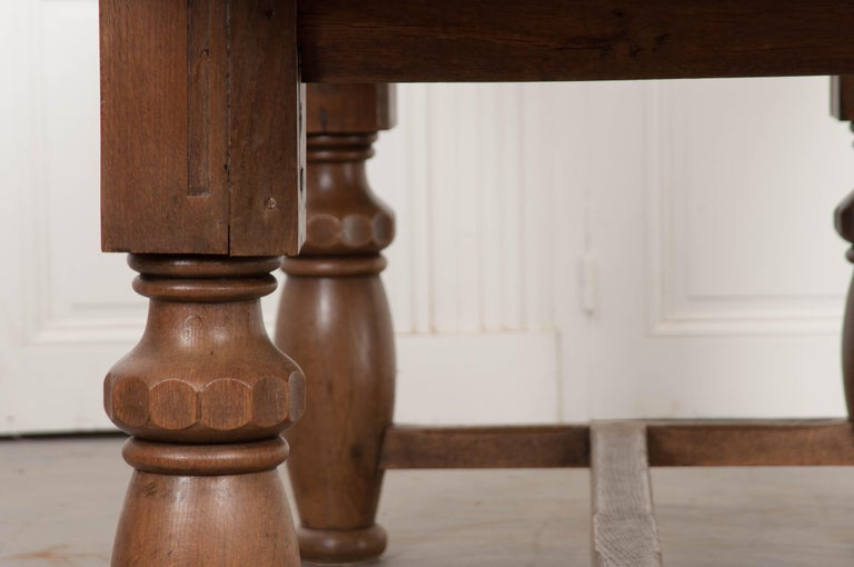 French 19th Century Refectory-Style Oak Farmhouse Table For Sale 3