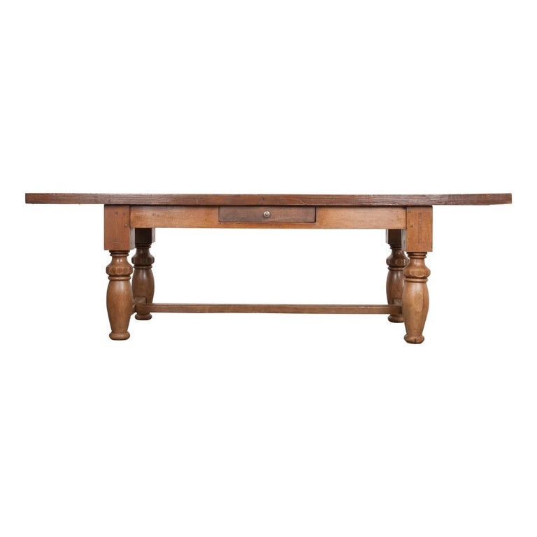 French 19th Century Refectory-Style Oak Farmhouse Table For Sale
