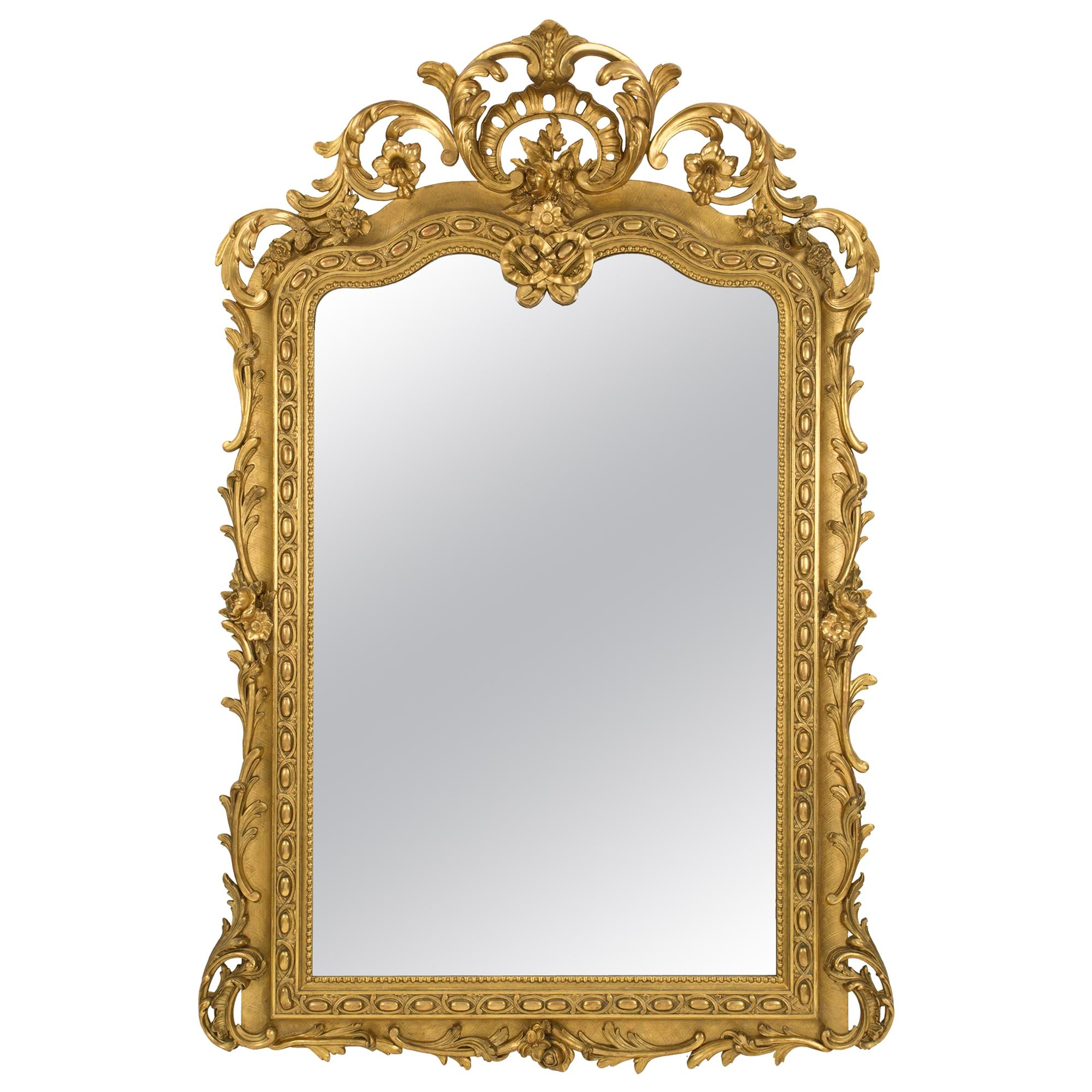 French 19th Century Regence St. Giltwood Mirror