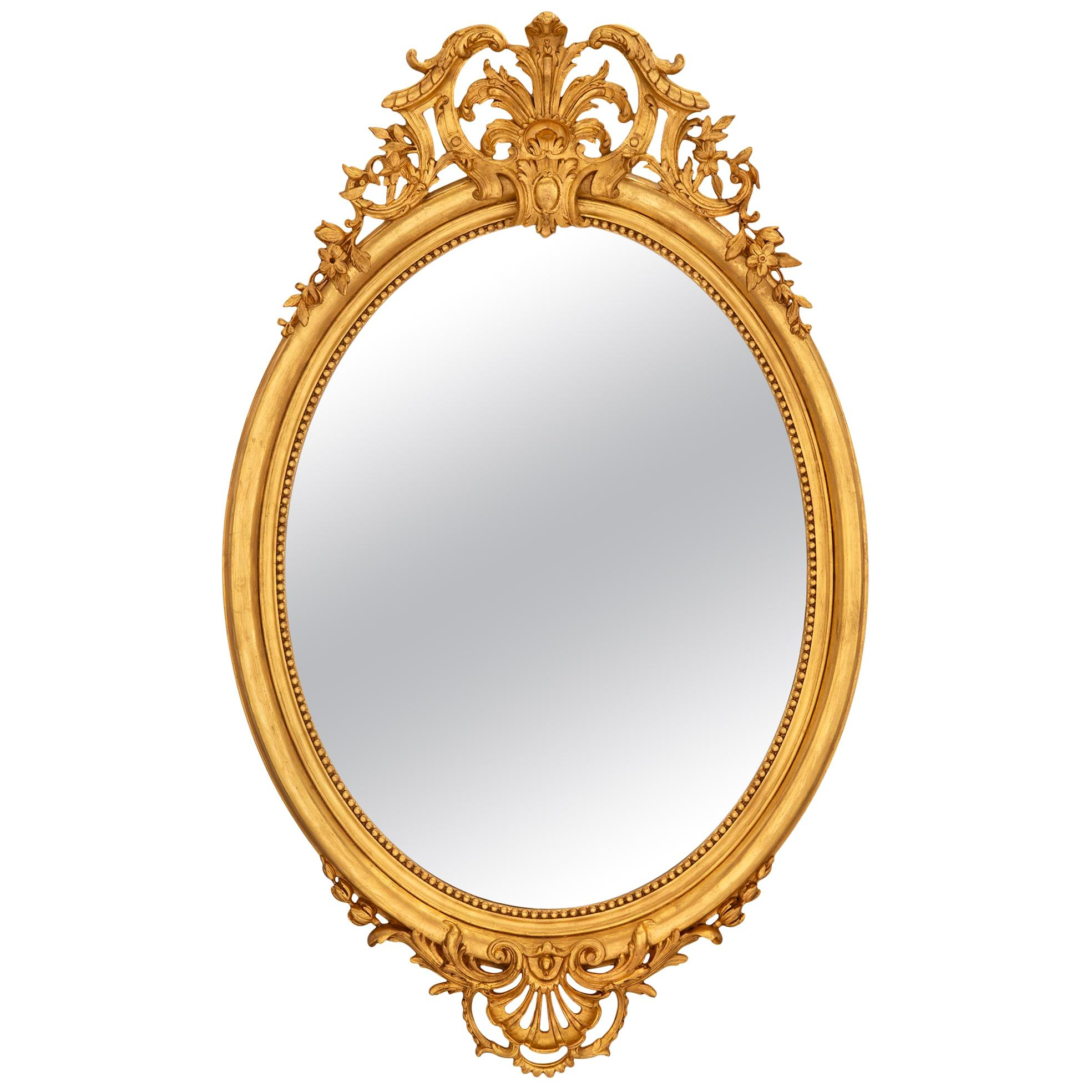 French 19th Century Régence Style Giltwood Mirror