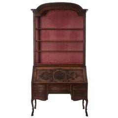 French 19th Century Regence Style Walnut Secretaire