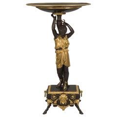 French 19th Century Renaissance Style Bronze and Ormolu Vide Poche Tazza/Stand