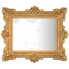 French 19th Century Renaissance Style Finely Carved Giltwood Mirror