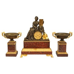 French 19th Century Renaissance Style Garniture Set