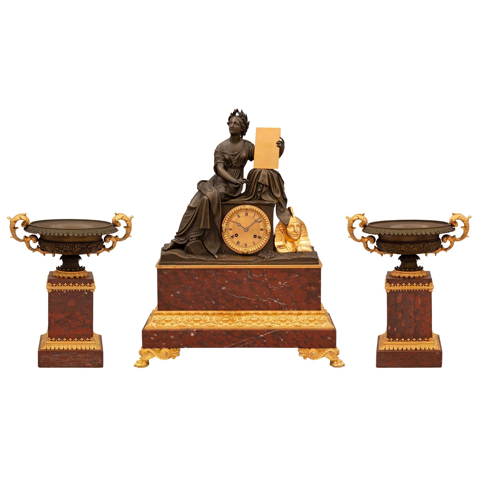 French 19th Century Renaissance Style Garniture Set