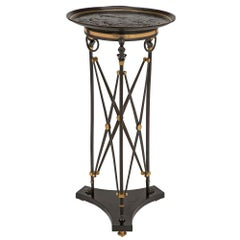French 19th Century Renaissance Style Patinated Bronze Tazza Designed Side Table