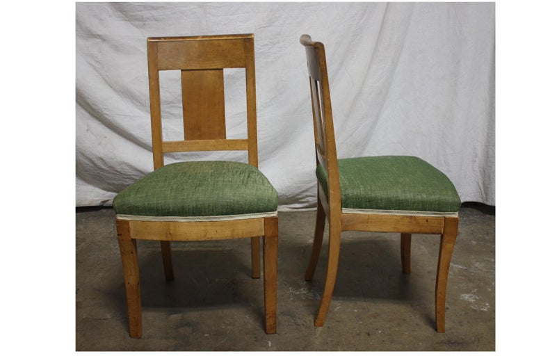 Walnut French 19th Century Restauration Dining Room Chairs For Sale