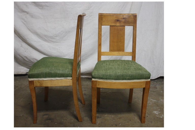 French 19th Century Restauration Dining Room Chairs For Sale 1
