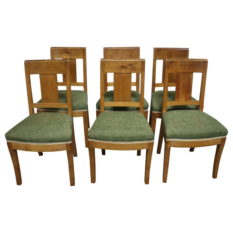 French 19th Century Restauration Dining Room Chairs For Sale
