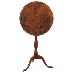 French 19th Century Restauration Walnut Tilt-Top Tea Table