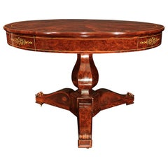 French 19th Century Restoration Period Round Center Table