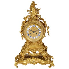 French 19th Century Rococo Mantel Clock