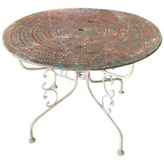 French 19th Century Round Iron Bistro Table