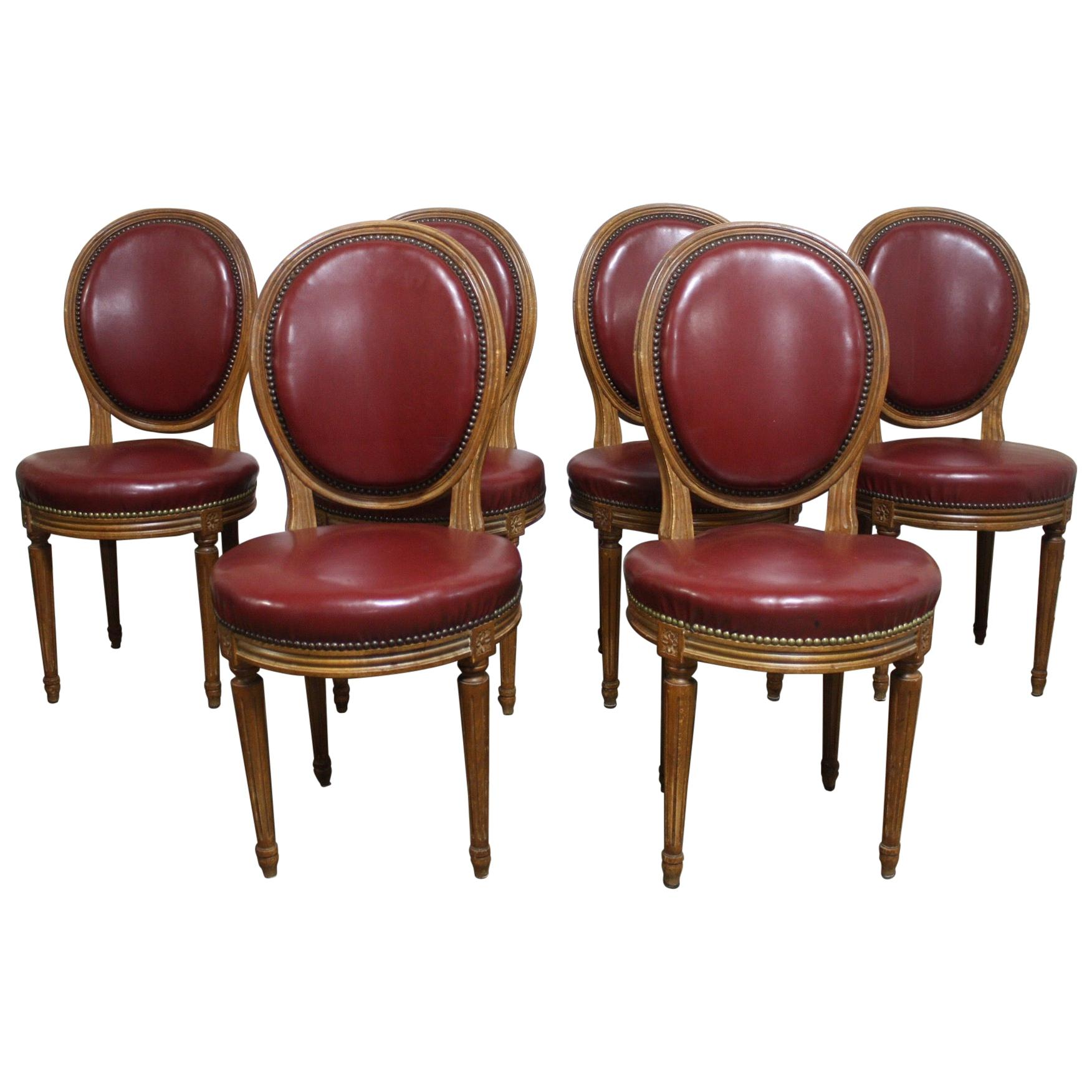 French 19th Century Set of 6 Dining Chairs