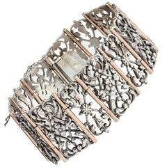 French 19th Century Silver and Vermeil Bracelet