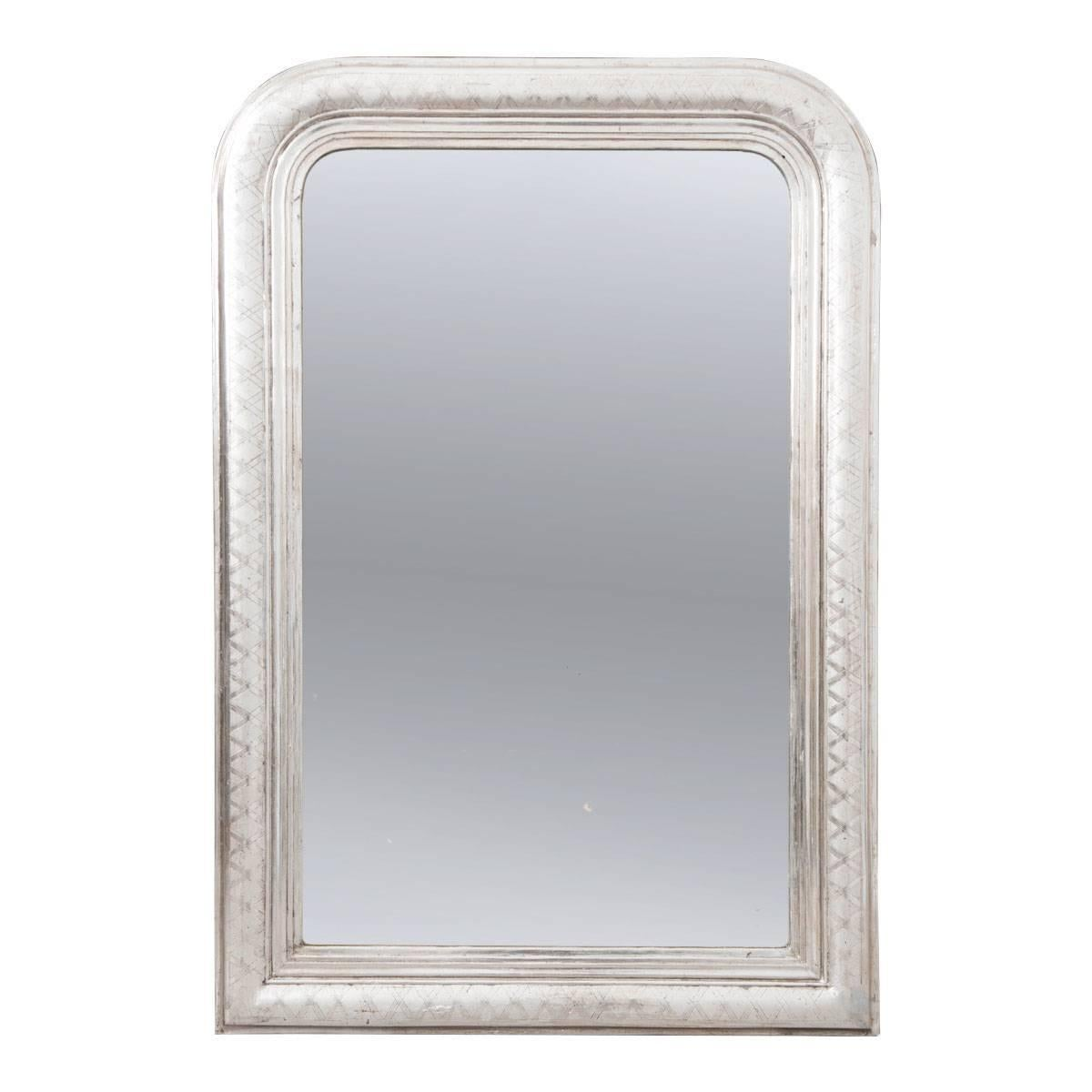 French 19th Century Silver Gilt Louis Philippe Mirror