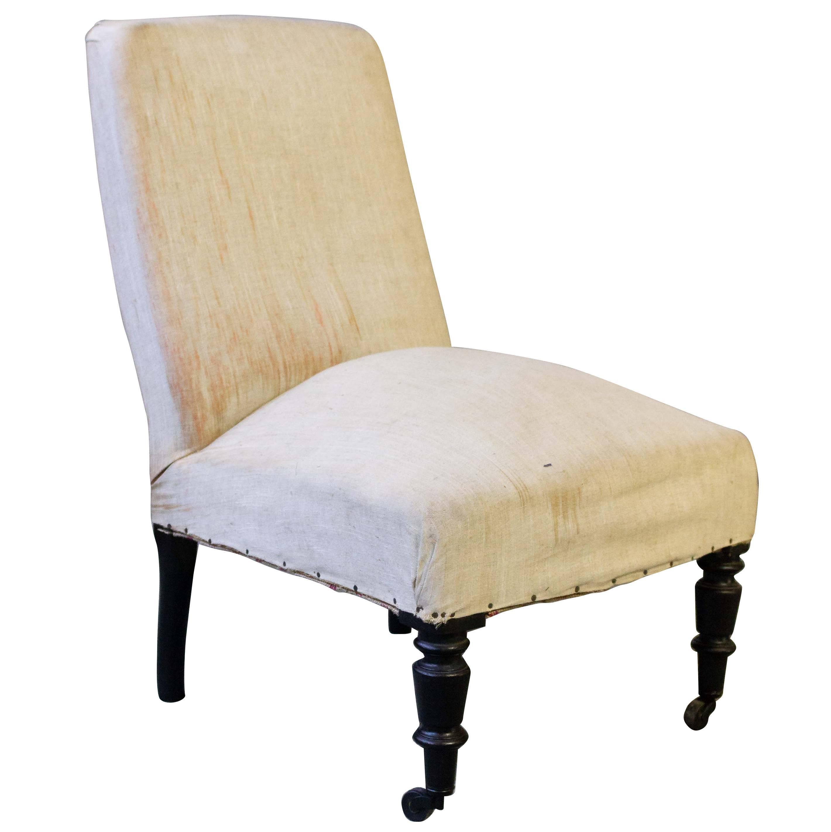 French 19th Century Slipper Chair