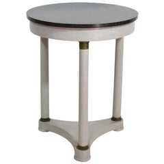 French 19th Century Small Second Empire Guéridon Table with Black Marble Top