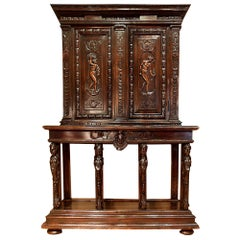 French 19th Century Solid Oak Cabinet
