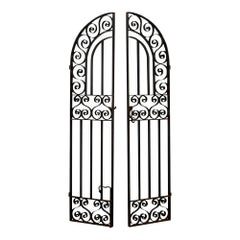 French 19th Century Spanish Style Forged Iron Gate Doors