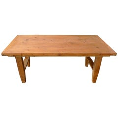 French 19th Century Stained Country Pine Coffee Table