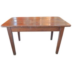 French 19th Century Stained Pine Breakfast Table
