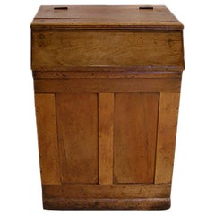 French 19th Century Stained Pine Storage Bin