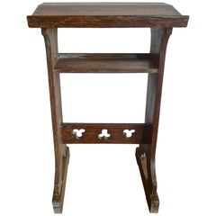 French 19th Century Stained Walnut Prayer Table