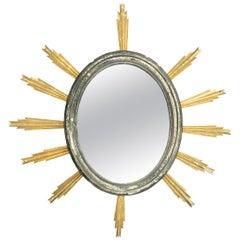 French 19th Century Starburst Mirror