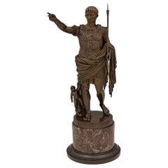 French 19th Century Statue of Augustus of Prima Porta