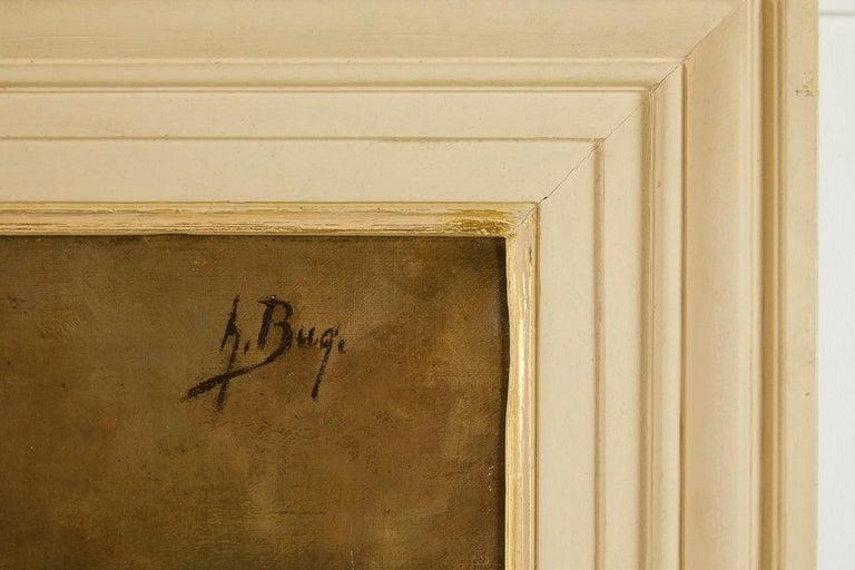 Beautiful 19th century still life oil on canvas painting.