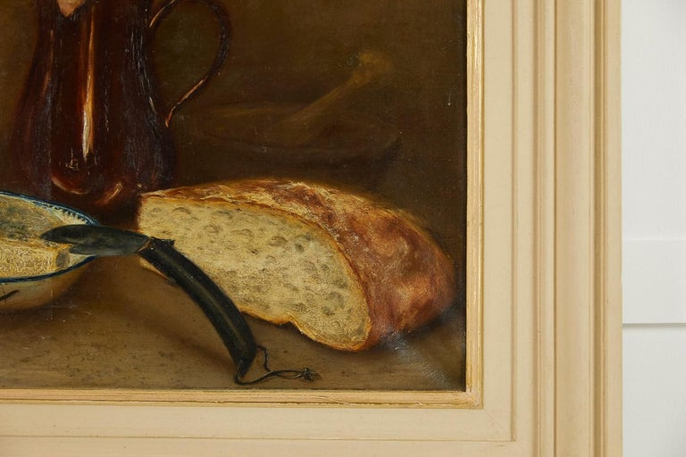 Hand-Painted French 19th Century Still Life Oil on Canvas For Sale