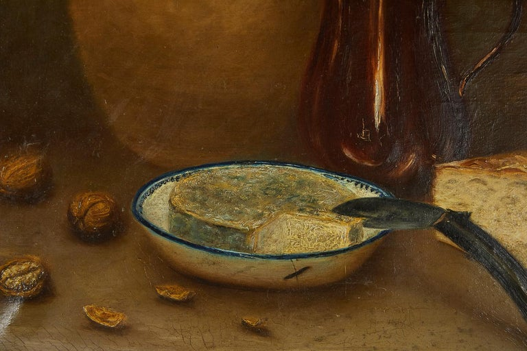 French 19th Century Still Life Oil on Canvas In Good Condition For Sale In Husbands Bosworth, Leicestershire