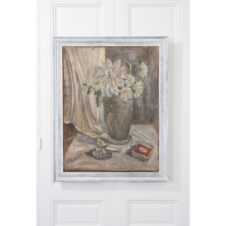 French 19th Century Still Life Oil on Canvas In Good Condition For Sale In Baton Rouge, LA