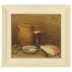 French 19th Century Still Life Oil on Canvas