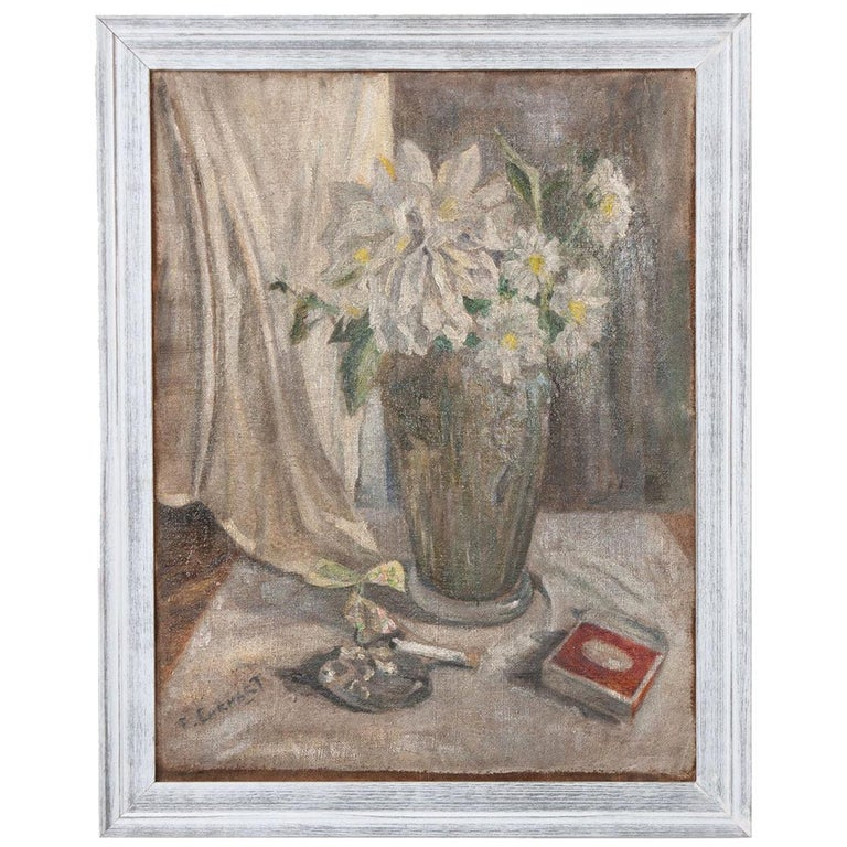 French 19th Century Still Life Oil on Canvas For Sale