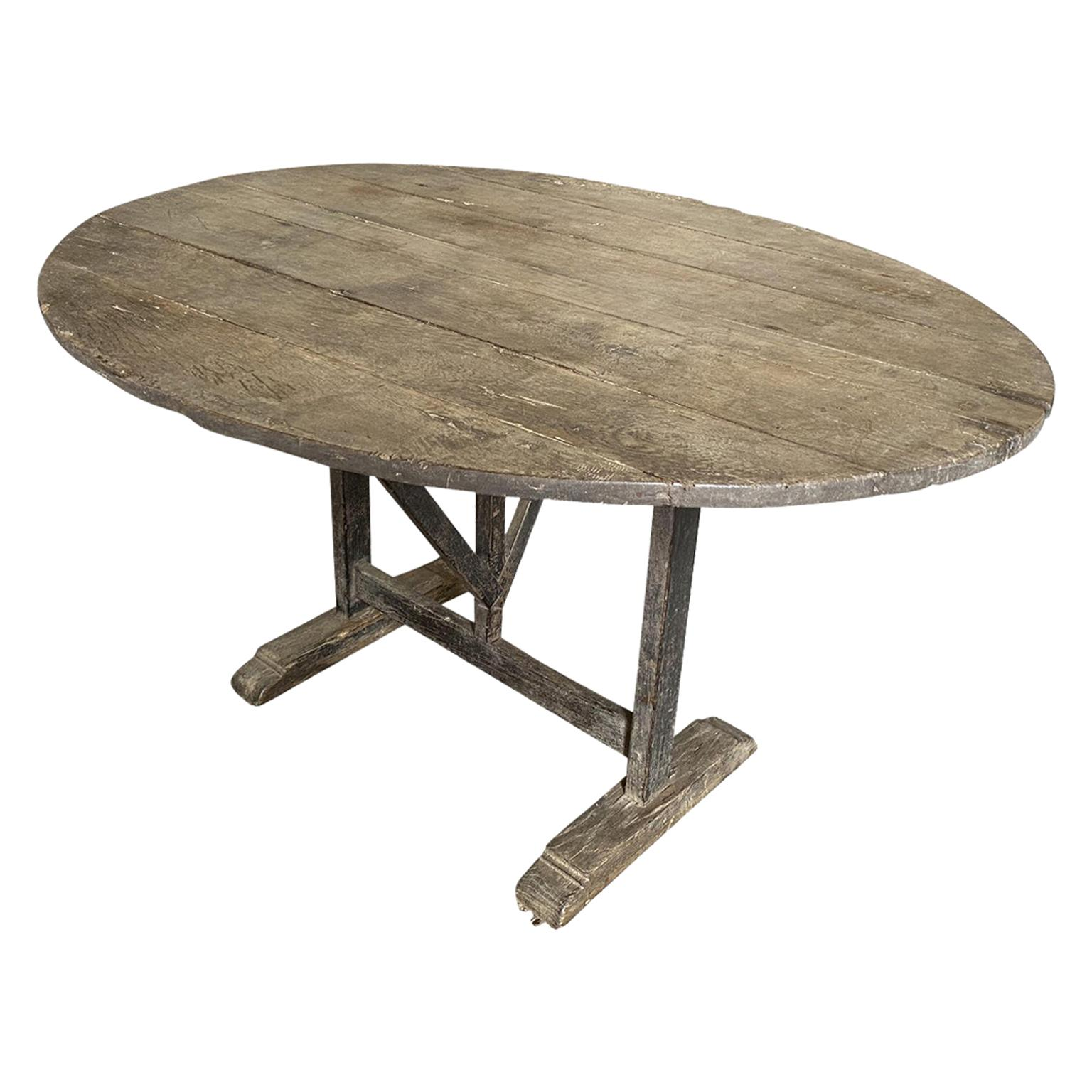 French 19th Century Table Vigneron, Wine Tasting Table