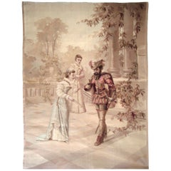 French 19th Century Tapestry, circa 1870, 4'5 x 5'9