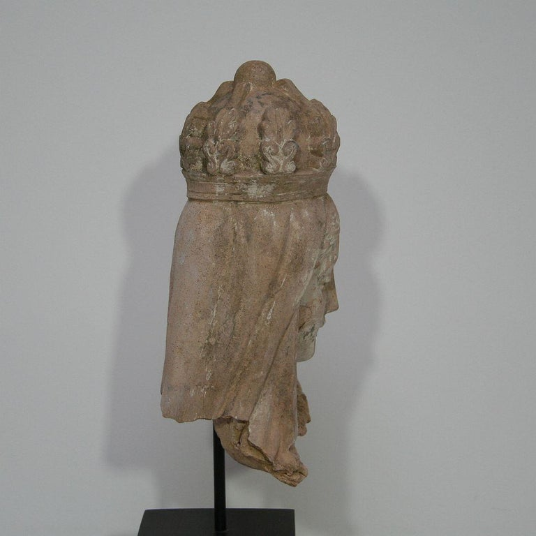 French 19th Century Terracotta Head of a Madonna For Sale 8