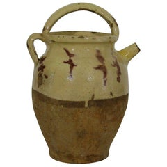 French 19th Century, Terracotta Jug or Water Cruche