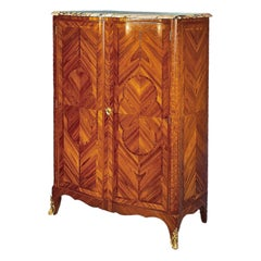 French 19th Century Transitional St. Two Door Armoire